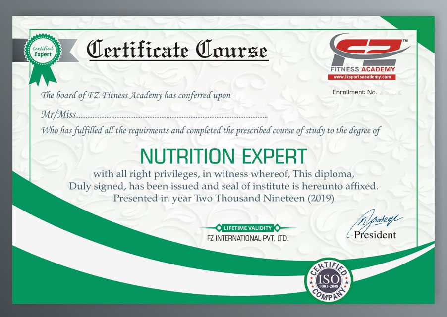 Nutrition Certificate